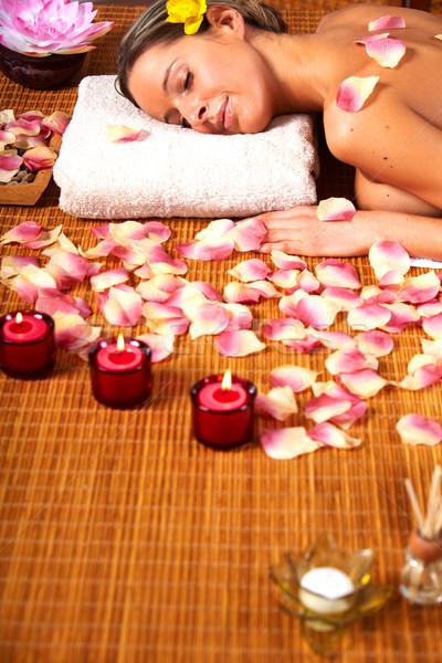 Spa массаж салона расслабиться цветок Сток-фото © Kurhan