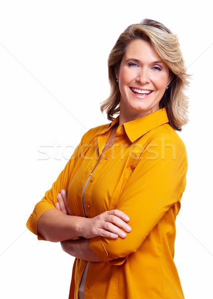 Stock photo: Happy senior woman.