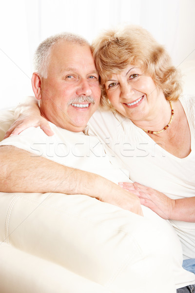 ホーム 笑みを浮かべて 幸せ 家 カップル ストックフォト © Kurhan