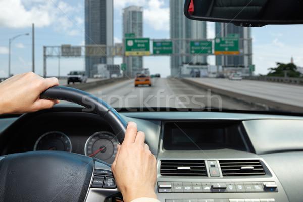 автомобилей драйвера рук люди вождения дорога Сток-фото © Kurhan