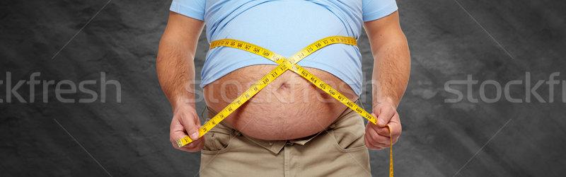 ожирение большой живота Сток-фото © Kurhan