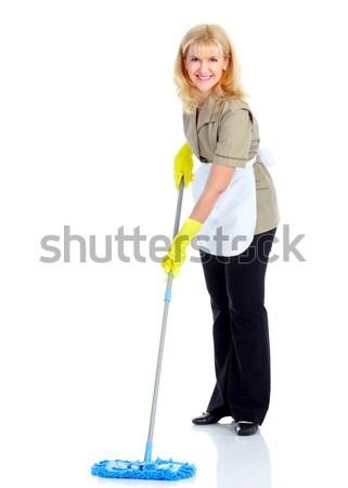 Siłowni fitness uśmiechnięty starsza kobieta biały Zdjęcia stock © Kurhan