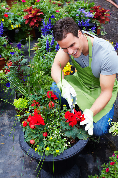 Man working in nursery. Stock photo © Kurhan