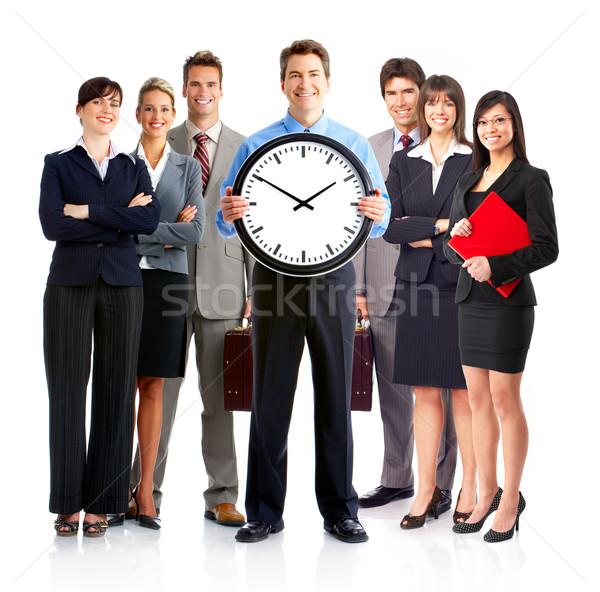 Gens d'affaires groupe jeunes souriant blanche bureau Photo stock © Kurhan