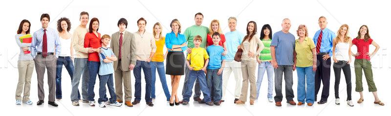 Boldog emberek izolált fehér nő gyerekek nők Stock fotó © Kurhan