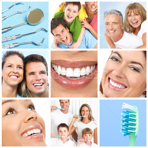 Smiles ans teeth Stock photo © Kurhan