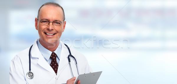 Mature medical doctor man. Stock photo © Kurhan