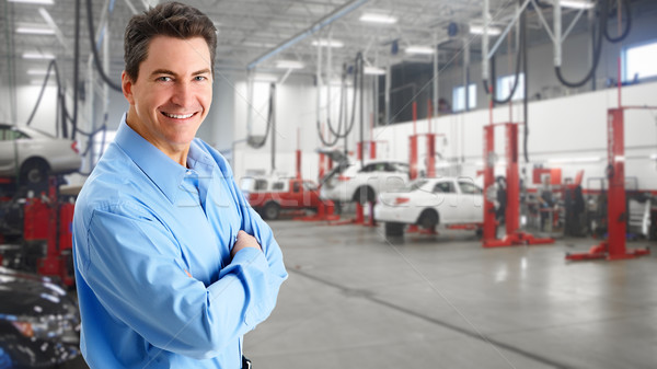 Mature auto mechanic. Stock photo © Kurhan