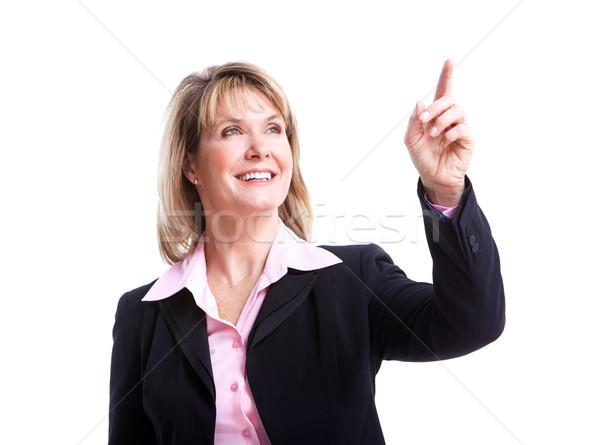 Igazgató üzletasszony izolált fehér nő háttér Stock fotó © Kurhan