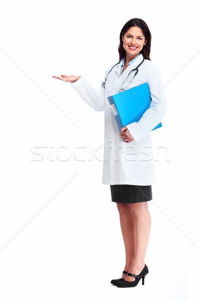 Smiling medical doctor woman with stethoscope. Stock photo © Kurhan