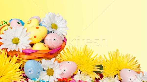 Ovos de páscoa belo primavera páscoa festa ovo Foto stock © Kurhan