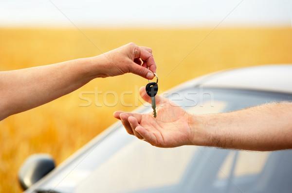 Mujer coche manos feliz naturaleza Foto stock © Kurhan