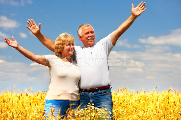 elderly couple Stock photo © Kurhan