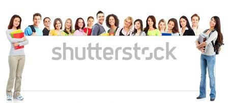 Personas grupo jóvenes sonriendo blanco negocios Foto stock © Kurhan