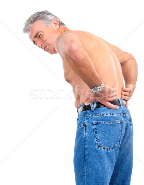 Stock photo: back pain