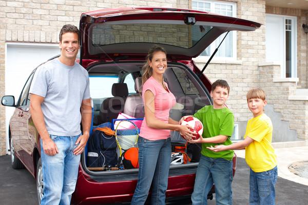 семьи автомобилей улыбаясь счастливая семья женщину ребенка Сток-фото © Kurhan