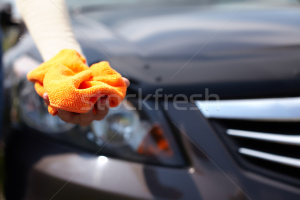 Hand polishing car. Stock photo © Kurhan