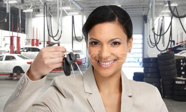 Auto revendeur femme Photo stock © Kurhan