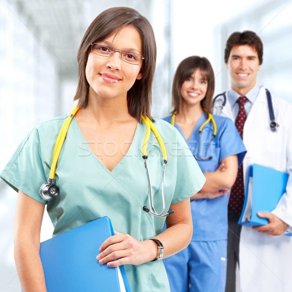 Orvos nővér csoport orvosok nővérek orvosi Stock fotó © Kurhan