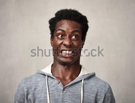 Stock photo: Thinking black man