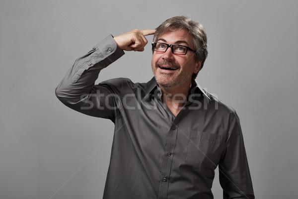 Thinking man happy Stock photo © Kurhan