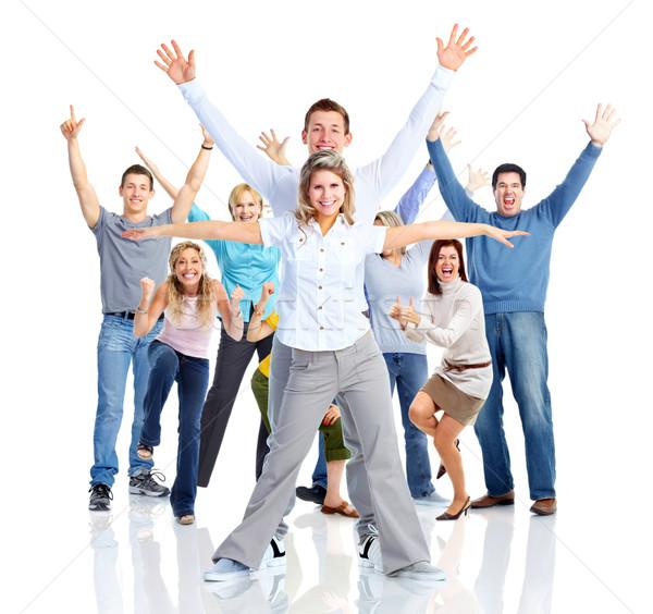 Group of happy people. Stock photo © Kurhan