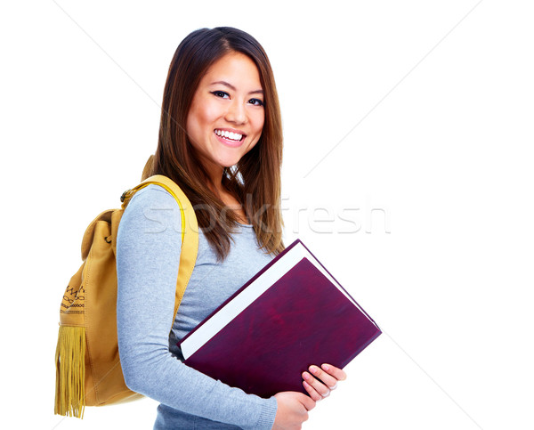 Student girl with book. Stock photo © Kurhan