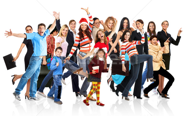 Happy funny people Stock photo © Kurhan