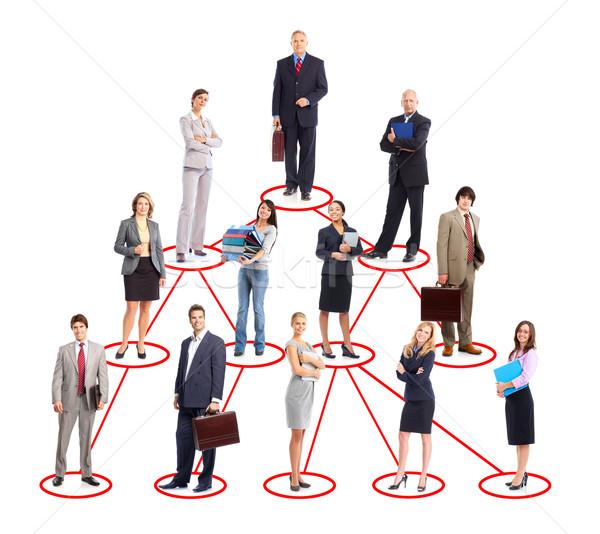 Stockfoto: Zakenlieden · groep · geïsoleerd · witte · business · vrouwen