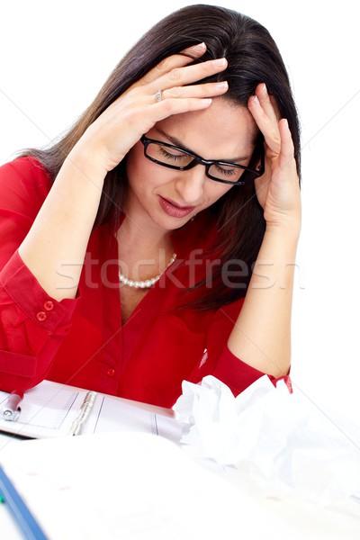 Woman having headache. Stock photo © Kurhan