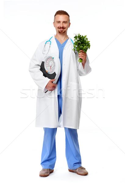 Arts voedingsdeskundige schalen geïsoleerd witte medische Stockfoto © Kurhan