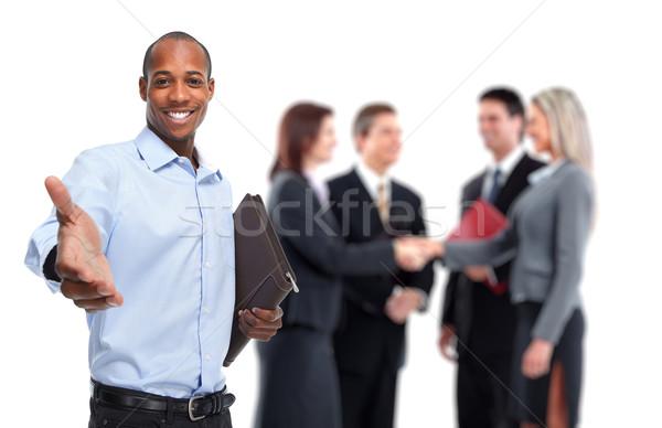 African-American businessman handshake. Stock photo © Kurhan