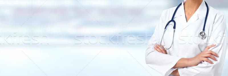 Hands of Doctor woman. Stock photo © Kurhan