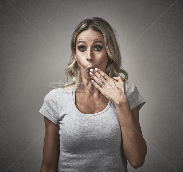 Woman with guilty face expression. Stock photo © Kurhan
