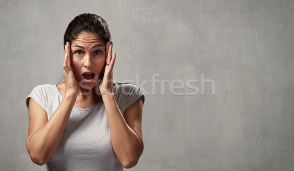 surprised afraid woman Stock photo © Kurhan