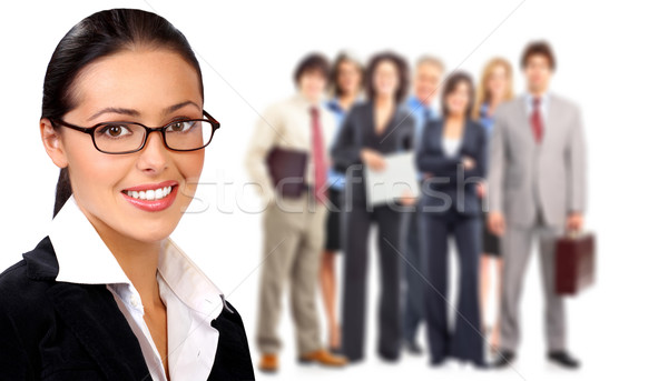Stock fotó: üzletemberek · csapat · csoport · mosolyog · üzleti · csapat · üzlet
