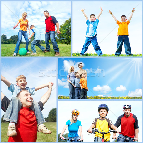 Happy family collage. Stock photo © Kurhan