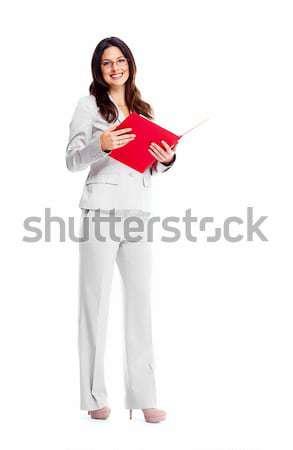 ビジネス女性 美しい 小さな 孤立した 白 ビジネス ストックフォト © Kurhan