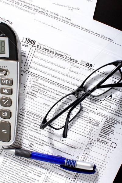 Renda imposto voltar forma 1040 padrão Foto stock © Kurhan