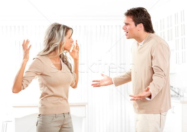 сердиться пару домой женщины фон мужчин Сток-фото © Kurhan