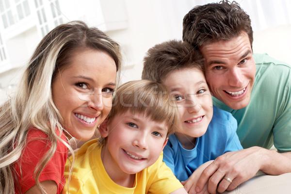 幸せな家族 父 母親 子供 ホーム 家 ストックフォト © Kurhan