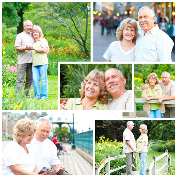 elderly seniors couple Stock photo © Kurhan