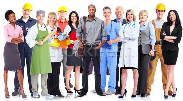 Grupo trabajadores personas aislado blanco negocios Foto stock © Kurhan