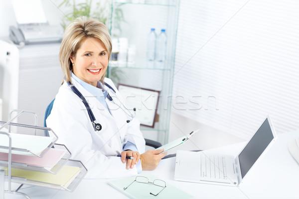 Foto d'archivio: Medico · medici · donna · ufficio · business · felice