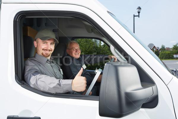 Grupo mensajero coche transporte envío hombre Foto stock © Kurhan