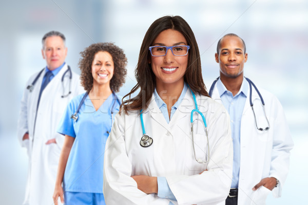 Doctor pharmacist group. Stock photo © Kurhan