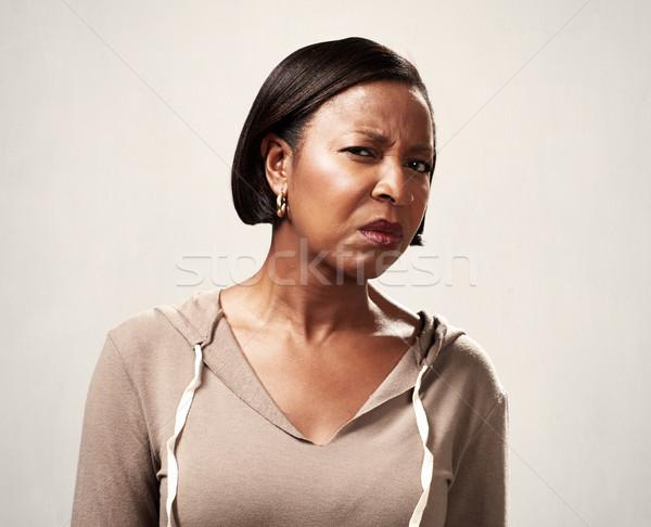 African woman incomprehension Stock photo © Kurhan