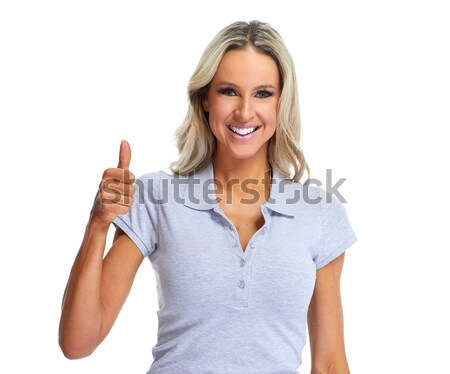 Happy woman portrait Stock photo © Kurhan