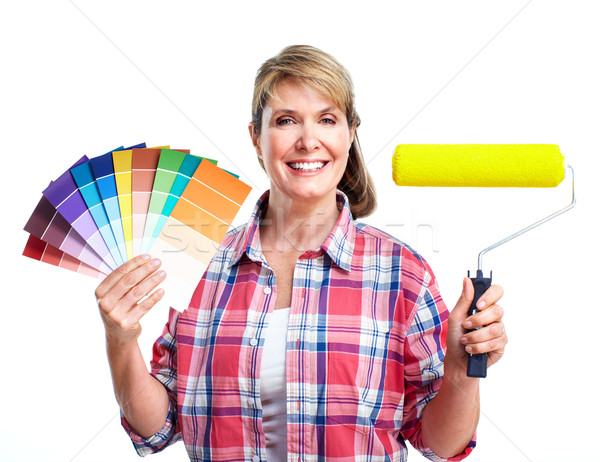 Woman painter. Stock photo © Kurhan