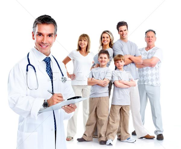 Сток-фото: семьи · врач · изолированный · белый · человека